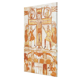 Crucifixion & Division of  Clothes of the Canvas Print