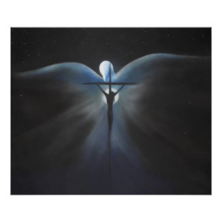 Crucifixion of Christ with the Holy Spirit Print