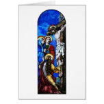 Crucifixion of Jesus Christ Stained Glass Art Greeting Cards