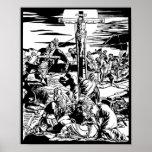 Crucifixion of Jesus Christ Vintage Art Print!