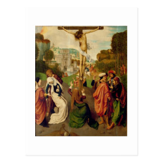 Crucifixion (oil on panel) postcard