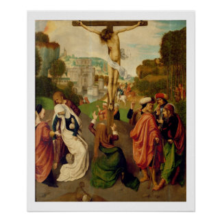 Crucifixion (oil on panel) poster