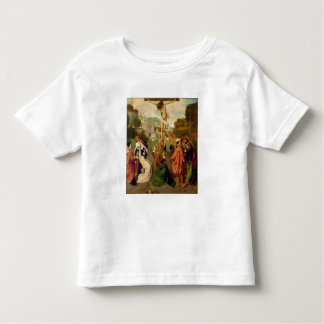 Crucifixion (oil on panel) tshirts