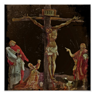 Crucifixion Saints at Jesus Feet Poster