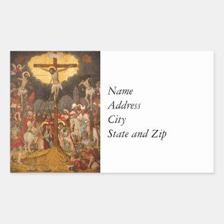 Crucifixion  Scene 1711 Rectangular Sticker