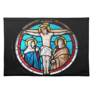 Crucifixion Stained Glass Window Place Mat
