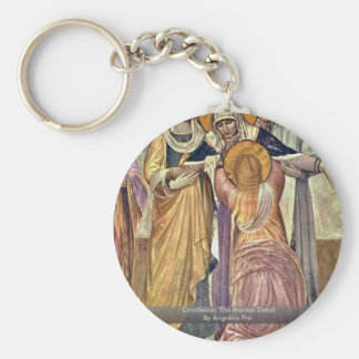Crucifixion The Marian Detail By Angelico Fra Key Chain