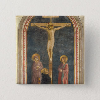 Crucifixion with the Virgin, SS. John the Evangeli 15 Cm Square Badge