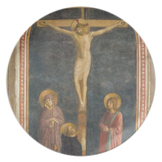 Crucifixion with the Virgin, SS. John the Evangeli Party Plates