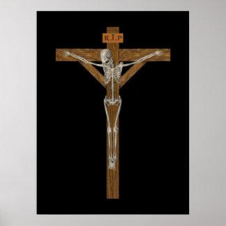 Crucify Skeleton Print