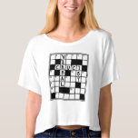 CRUCIVERBALIST Crossword Puzzle Lover T Shirts