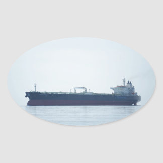Crude Oil Tanker Oval Sticker