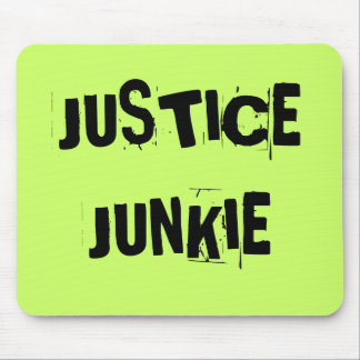 Cruel but Funny Lawyer Nickname - Justice Junkie Mouse Mat