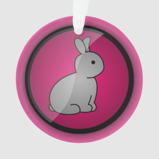 Cruelty-free Bunny Christmas Ornament