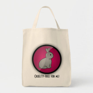 Cruelty-free Bunny Grocery Tote Bag