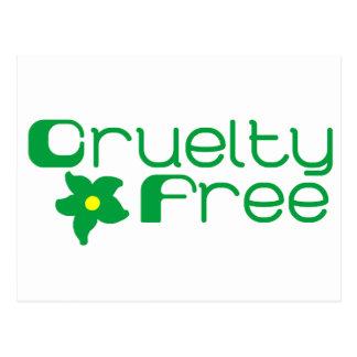 Cruelty Free Flower Design Post Card