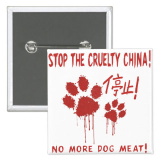 """""""Cruelty Free For Our Friends"""" Button:China 15 Cm Square Badge"""