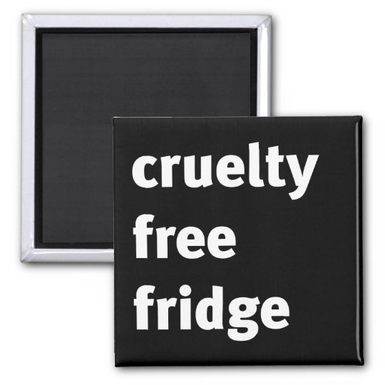Cruelty Free Fridge Bold Square Magnet