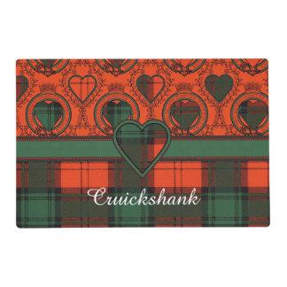 Cruickshank clan Plaid Scottish kilt tartan Laminated Placemat