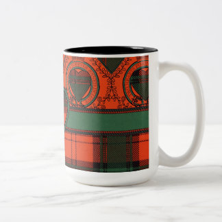 Cruickshank clan Plaid Scottish kilt tartan Two-Tone Coffee Mug