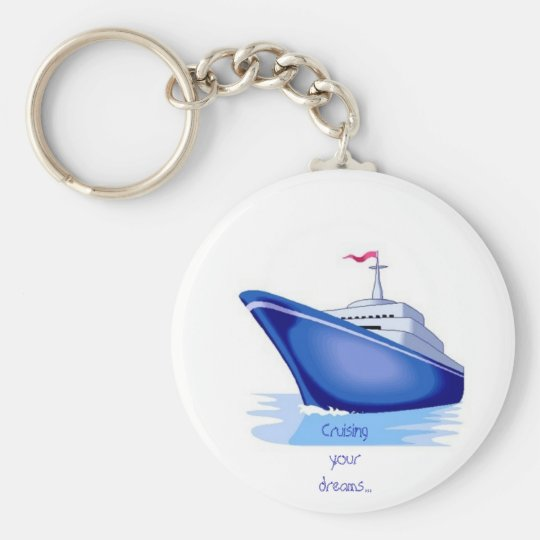 cruise1, Just cruisin' - Customised Basic Round Button Key Ring
