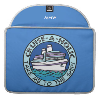 Cruise-A-Holic custom monogram MacBook sleeves