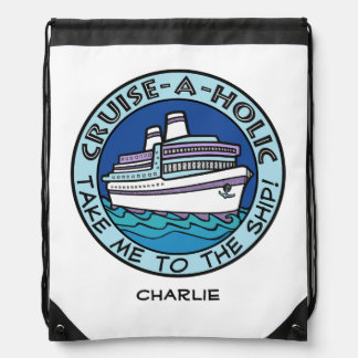 Cruise-A-Holic custom name backpack
