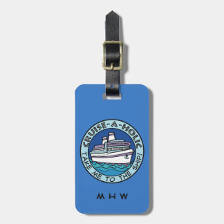 Cruise-A-Holic custom text & color luggage tag