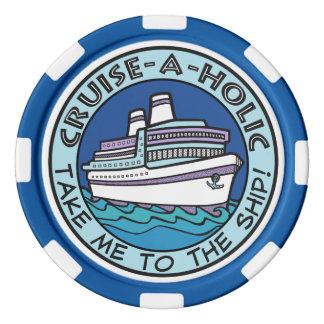 Cruise-A-Holic custom text poker chips