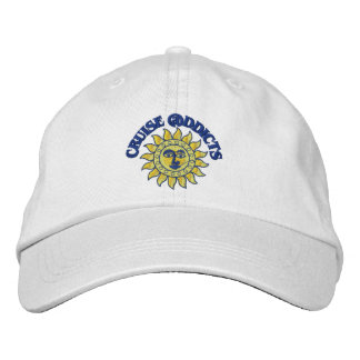 Cruise Addicts White Ball Cap Embroidered Baseball Cap