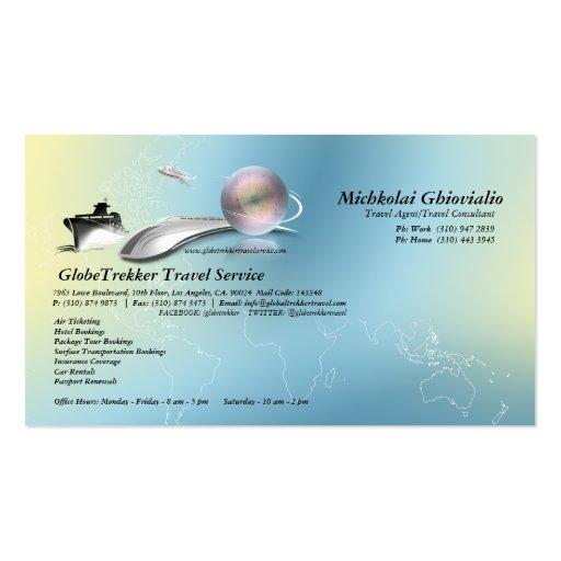 Cruise aeroplane train travel agency business card zazzle for Travel agency business cards