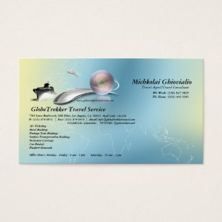 Cruise Aeroplane Train Travel Agency Business Card