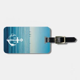 Cruise Anchor Monogram Travel Luggage Tag