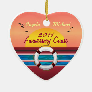Cruise Anniversary - Sunset  Template Christmas Ornament