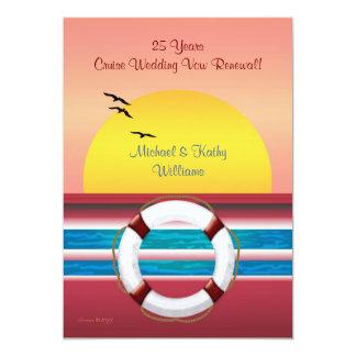 Cruise Anniversary Vow Renewal - Sunset Invite