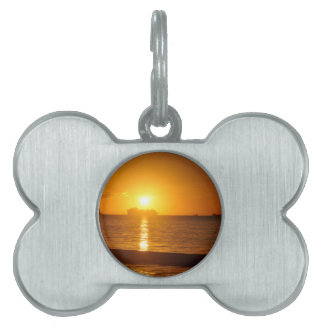 Cruise at sunset pet tag