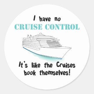 Cruise Control Classic Round Sticker