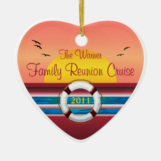 Cruise Family Reunion - Sunset  Template Christmas Ornament