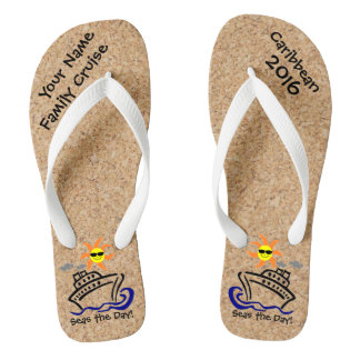Cruise Flip Flops Adult Wide Straps Seas the Day!