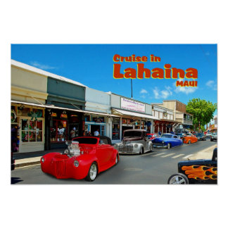 Cruise In Lahaina Poster