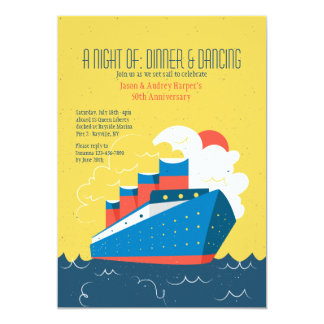 Cruise Liner Invitation