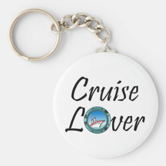 Cruise Lover Basic Round Button Key Ring