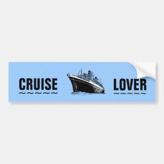 CRUISE LOVER bumper sticker