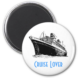 CRUISE LOVER magnet (round)