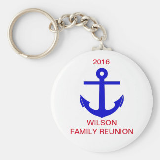 Cruise/Nautical Reunion (or Event) Basic Round Button Key Ring