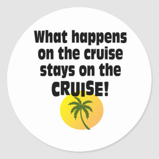 Cruise Round Sticker