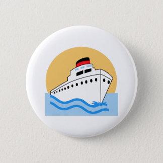 CRUISE SHIP 6 CM ROUND BADGE