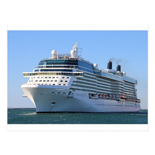 Cruise ship 8 postcard