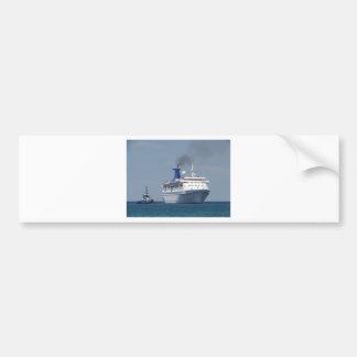 Cruise Ship Aquamarine Bumper Sticker