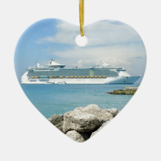Cruise Ship at CocoCay Christmas Ornament